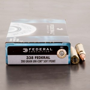 20rds - 338 Federal Power-Shok 200gr. Soft Point Ammo