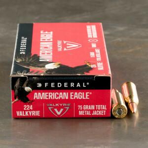 20rds - 224 Valkyrie Federal American Eagle 75gr. TMJ Ammo