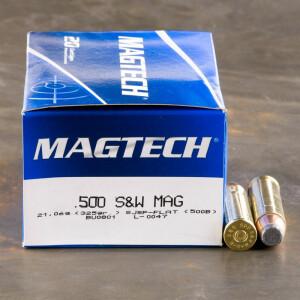 20rds - 500 S&W Magtech 325gr. SJSP Ammo