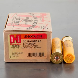 "10rds - 20 Gauge Hornady Heavy Magnum Turkey 3"" Max Dram 1 3/8oz. #5 Shot Ammo"