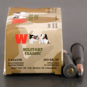 500rds – 7.62x54R WPA Military Classic 203gr. SP Ammo