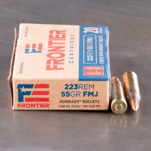 20rds - 223 Rem Hornady Frontier 55gr. FMJ Ammo