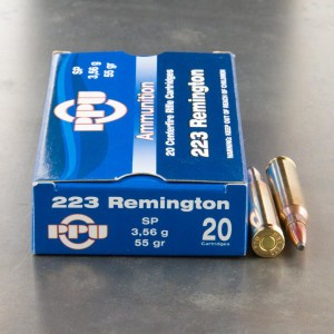 1000rds - 223 Prvi Partizan 55gr. Soft Point Ammo