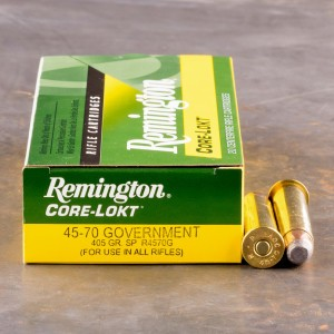 20rds - 45-70 Govt. Remington 405gr. Core-Lokt Soft Point Ammo