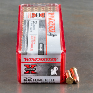 100rds - 22LR Winchester 37gr. Super-X SuperSpeed HP Ammo