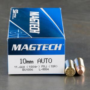 1000rds - 10mm Magtech 180gr. FMJ Ammo