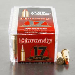 500rds - 17 Mach 2 Hornady 17gr. V-Max Polymer Tip Ammo