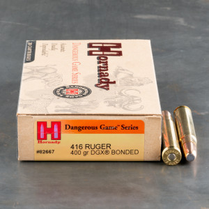 20rds - 416 Ruger Hornady 400gr. DGX Bonded Ammo