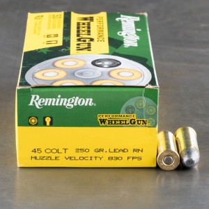 50rds - 45 Long Colt Remington Performance Wheel Gun 250gr. LRN Ammo