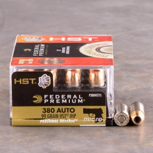 200rds - 380 Auto Federal Personal Defense 99gr. HST JHP Ammo