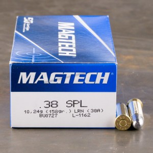 50rds - 38 Special Magtech 158gr. Lead Round Nose Ammo