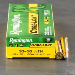 20rds - 30-30 Remington 150gr. Core-Lokt Soft Point Ammo