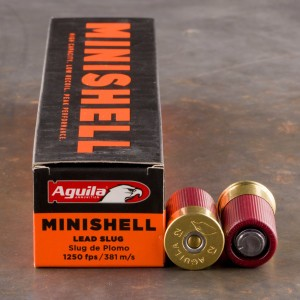20rds - 12 Gauge Aguila Mini-Shell Slug Ammo