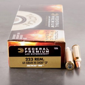 20rds - .223 Federal LE Tactical TRU 64gr. SP Ammo