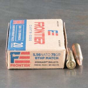 500rds - 5.56x45 Hornady Frontier 75gr. BTHP Match Ammo