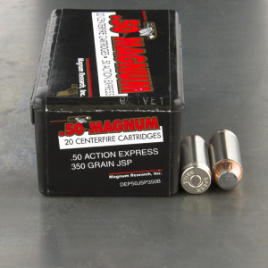 20rds - 50 Action Express Magnum Research 350gr. JSP Ammo