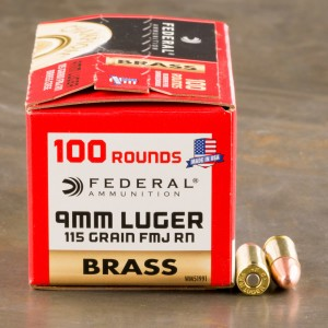 500rds - 9mm Federal Champion 115gr. FMJ Ammo
