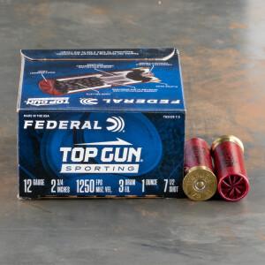 "250rds – 12 Gauge Federal Top Gun Sporting 2-3/4"" 1oz. #7.5 Shot Ammo"