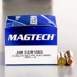 20rds - 500 S&W Magtech 325gr. FMJ Ammo