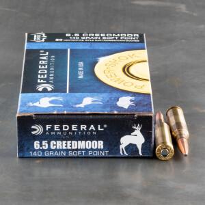 20rds – 6.5 Creedmoor Federal Power-Shok 140gr. JSP Ammo