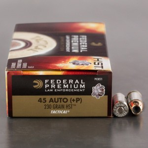 1000rds - 45 ACP +P Federal Premium Law Enforcement 230gr. HST JHP Ammo