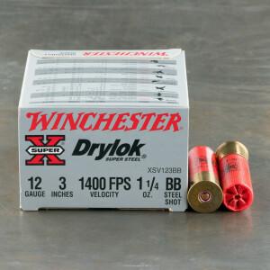 """25rds - 12 Gauge BB Winchester DryLok 1 1/4 Ounce 3"""" BB Shot Ammo"""
