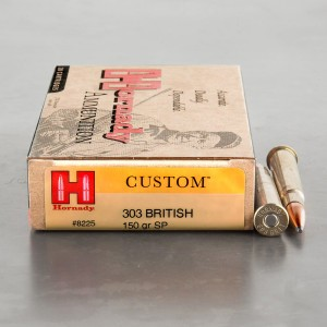 20rds - 303 British Hornady 150gr. InterLock Spire Point Ammo
