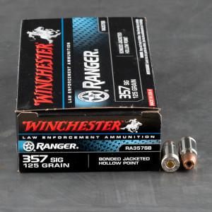 50rds - 357 Sig Winchester Ranger 125gr. Bonded Hollow Point Ammo