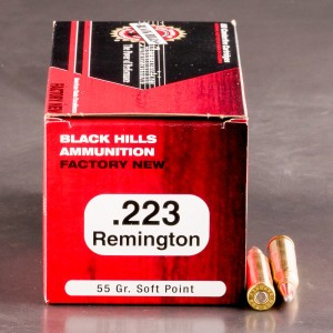50rds - 223 Black Hills 55gr. Soft Point Ammo