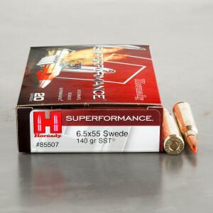 20rds - 6.5 x 55 Hornady 140gr. SST Polymer Tip Ammo