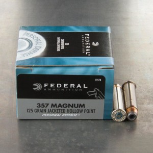 20rds - 357 Mag Federal Personal Defense 125gr. JHP Ammo