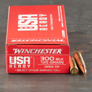 20rds – 300 AAC Blackout Winchester USA Ready 125gr. OT Ammo