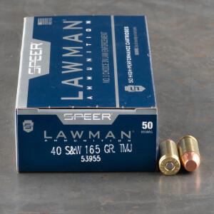 1000rds - 40 S&W Speer Lawman 165gr TMJ Ammo