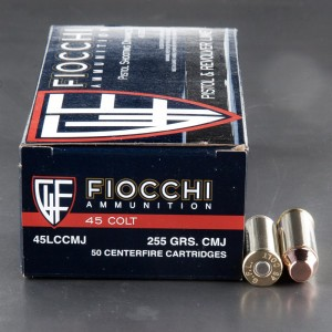 50rds - 45 Long Colt Fiocchi 255gr. CMJ Ammo