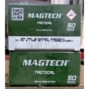 50rds – 300 AAC Blackout Magtech Subsonic 200gr. FMJ Ammo