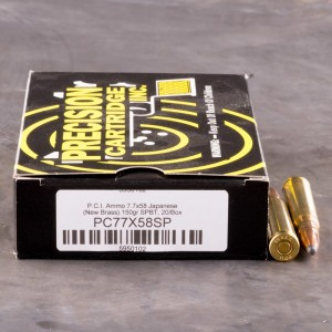 20rds - 7.7 JAP Precision Cartridge Inc. 150gr. SPBT Ammo