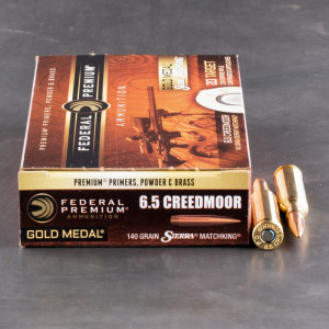 20rds - 6.5mm Creedmoor Federal Gold Medal 140gr. Sierra Matchking BTHP Ammo