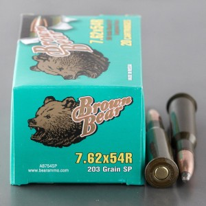 500rds - 7.62x54R Brown Bear 203gr. SP Ammo