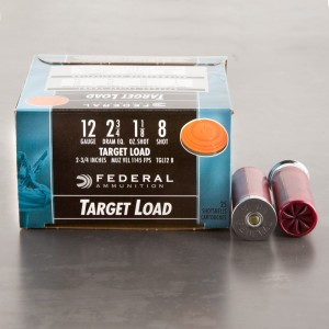 "25rds – 12 Gauge Federal Top Gun Target Load 2-3/4"" 1-1/8oz. #8 Shot Ammo"