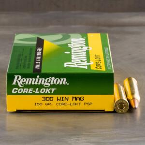 20rds - 300 Win Mag Remington 150gr. Core-Lokt PSP Ammo