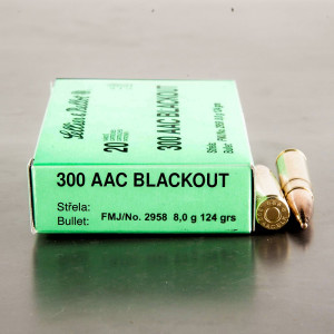 20rds – 300 AAC Blackout Sellier & Bellot 124gr. FMJ Ammo