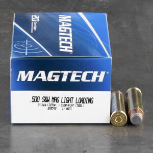 20rds - 500 S&W Magtech Light Loading 325gr. SJSP-Flat Ammo