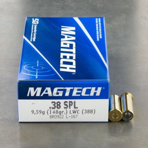 50rds - 38 Special Magtech 148gr. LWC Ammo