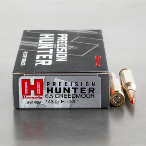 20rds – 6.5mm Creedmoor Hornady Precision Hunter 143gr. ELD-X Ammo
