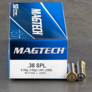 1000rds – 38 Special Magtech 148gr. LWC Ammo