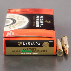 20rds - .308 Federal Gold Medal 168gr. BTHP Match Ammo