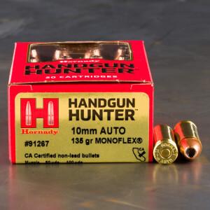 20rds – 10mm Hornady Handgun Hunter 135gr. MonoFlex Ammo