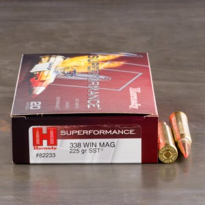 20rds – 338 Win Mag Hornady Superformance 225gr. SST Ammo
