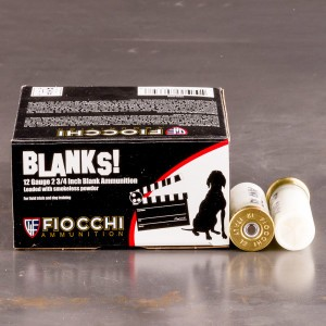 "250rds - 12 Gauge Fiocchi 2 3/4"" Blank Ammo"