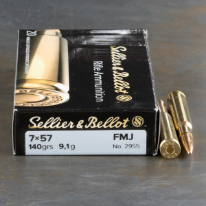 20rds – 7mm Mauser Sellier & Bellot 140gr. FMJ Ammo